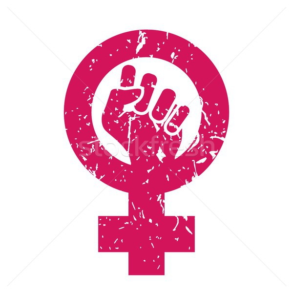 Woman Symbol Vector. Feminism Power. Female Icon. Feminist Hand. Girls Rights. Women Resist. Isolate Stock photo © pikepicture