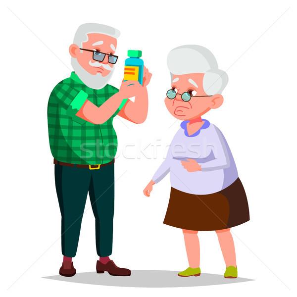 高齢者 カップル ベクトル 祖父 祖母 古い ストックフォト © pikepicture