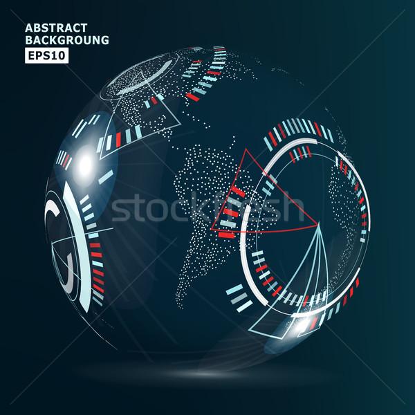 Сток-фото: футуристический · глобализация · интерфейс · современных · земле