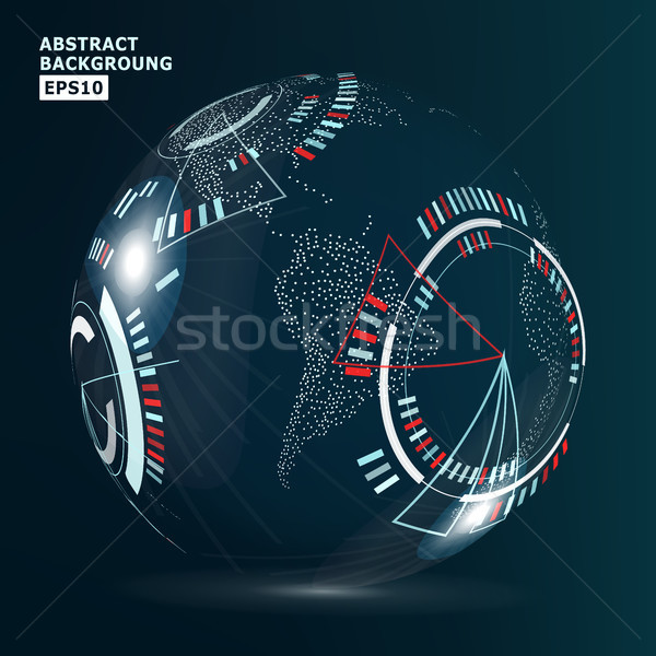 Futurista globalización interfaz moderna tierra Foto stock © pikepicture