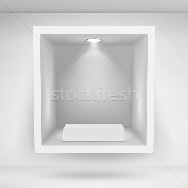 Empty Niche Vector. Realistic Clean Shelf, Niche, Wall Showcase. Good For Presentations, Display You Stock photo © pikepicture
