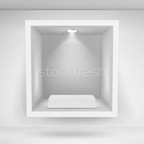 Lege nis vector realistisch schone plank Stockfoto © pikepicture