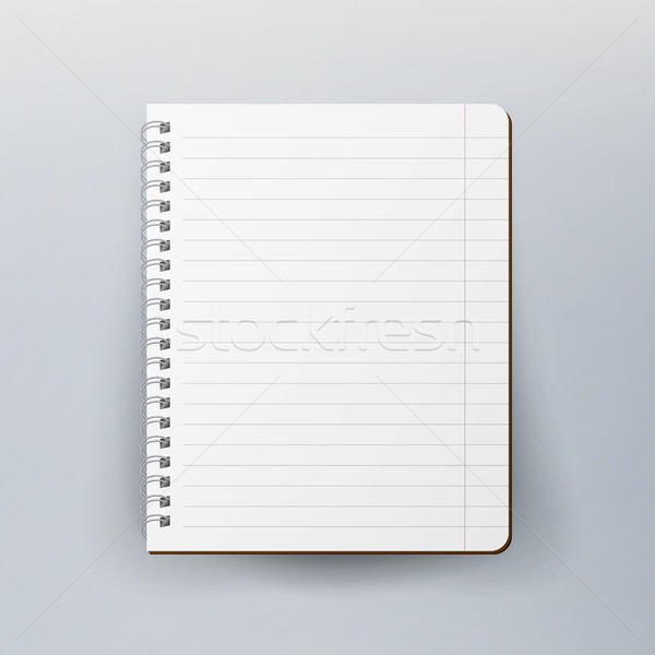 Spiral Empty Notepad Blank Mockup. Template For Advertising Branding, Corporate Identity. Realistic  Stock photo © pikepicture