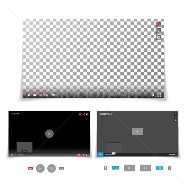 ビデオ プレーヤー インターフェース テンプレート ベクトル 進捗 ストックフォト © pikepicture