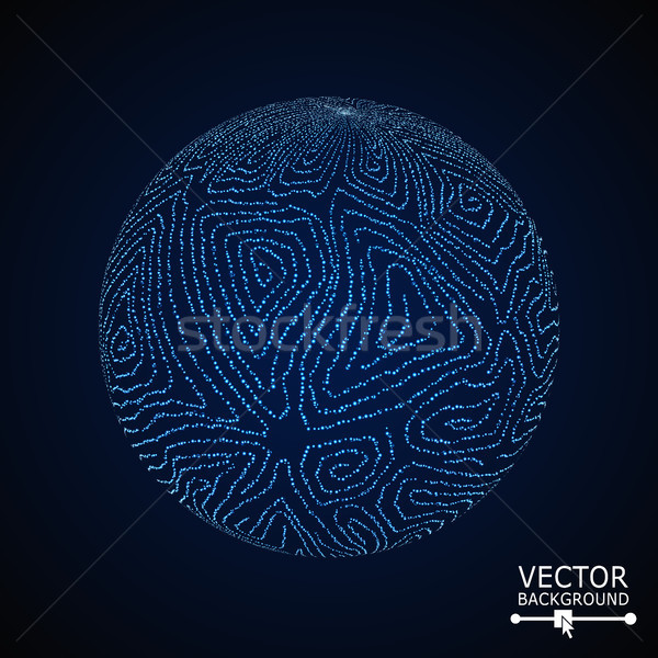 Sphere Background With Swirled Stripes. Vector Glowing Composition Stock photo © pikepicture