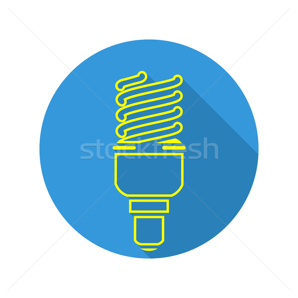 Energy Saving Light Vector. Fluorescent Light Bulb Icon. Stock photo © pikepicture