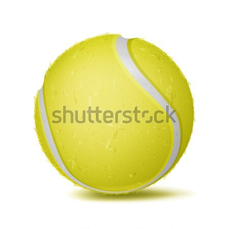 Realistic Tennis Ball Vector. Classic Round Yellow Ball. Sport Game Symbol. Illustration Stock photo © pikepicture