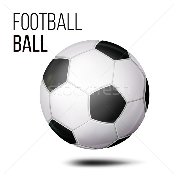 Football Ball Isolated Vector. Soccer Ball. Realistic Illustration Stock photo © pikepicture