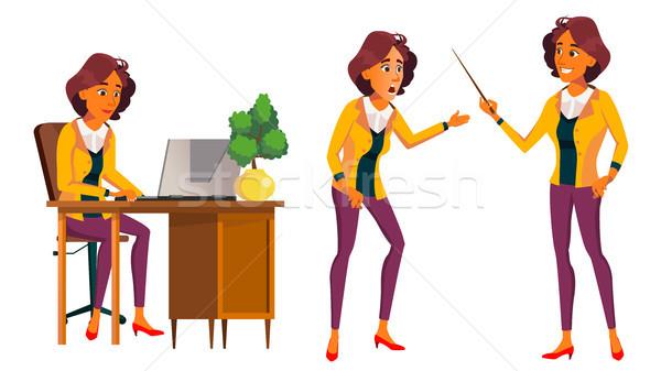 служащий вектора женщину современных сотрудник Сток-фото © pikepicture
