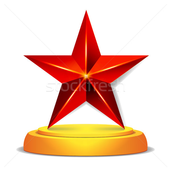 Modern Star Award. Shiny Vector Illustration.  Trophy, Challenge Prize. Beautiful Label Design. Isol Stock photo © pikepicture