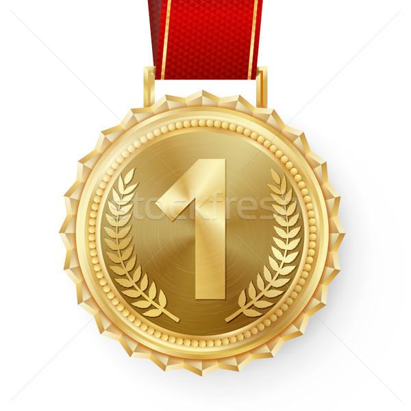 Médaille d'or vecteur or lieu badge Photo stock © pikepicture