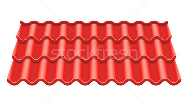 Rood tegel vector element dak keramische Stockfoto © pikepicture