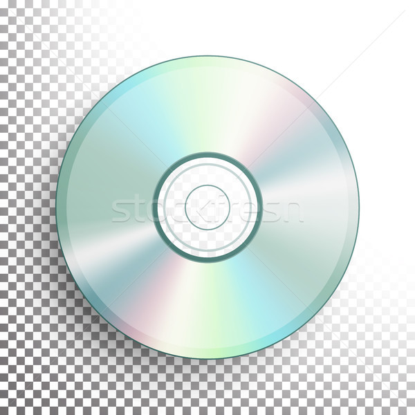 CD, DVD Disc Vector. Realistic Compact Disc Isolated On Transparent Background. Glowing Plastic Surf Stock photo © pikepicture