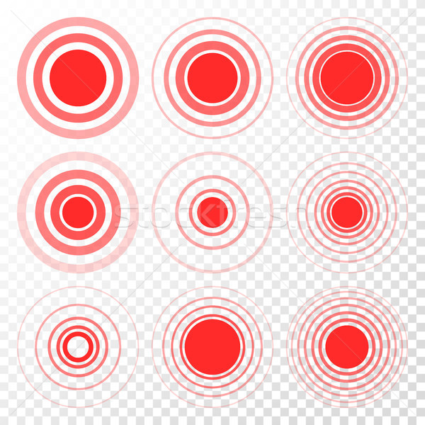 Pain Target Vector. Red Ring From Thin To Thick. Isolated Illustration Stock photo © pikepicture