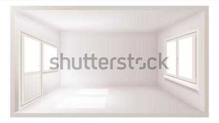 Habitación vacía vector vacío pared luz del sol caer Foto stock © pikepicture