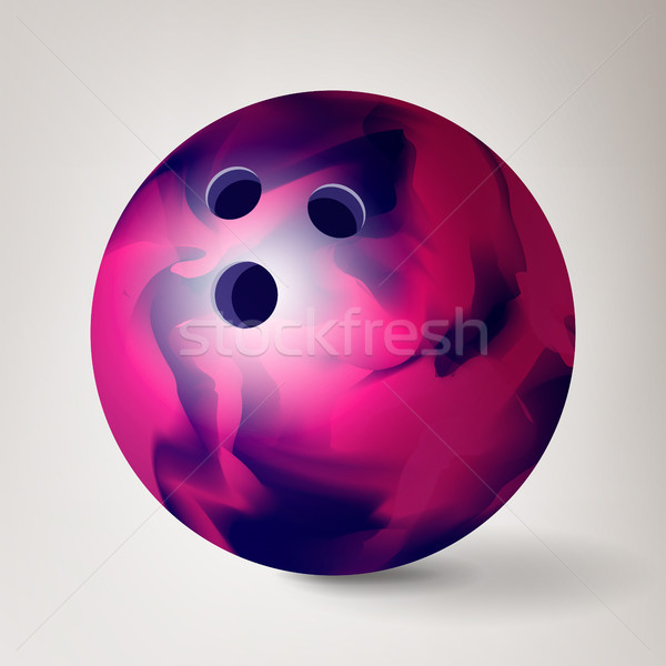 Bowling Ball Vector. 3D Realistic Illustration. Shiny And Clean Stock photo © pikepicture