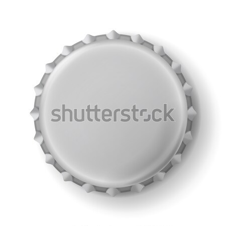 Beer Cap Vector. Metallic Bottle Cap Isolated On White Background. Empty Mock Up Stock photo © pikepicture