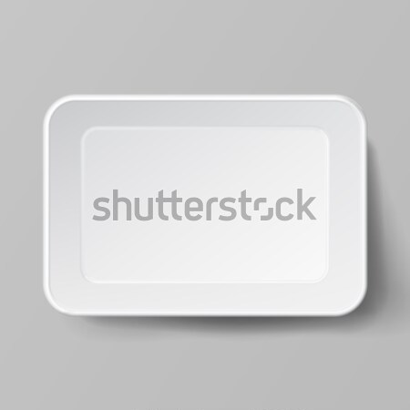 Empty Blank Styrofoam Plastic Food Tray Container. White Empty Mock Up. Good For Package Design. Stock photo © pikepicture