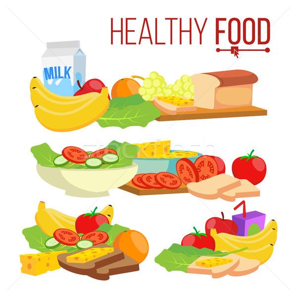 Sağlıklı gıda vektör yardım sağlık sağlıklı beslenme sağlık Stok fotoğraf © pikepicture