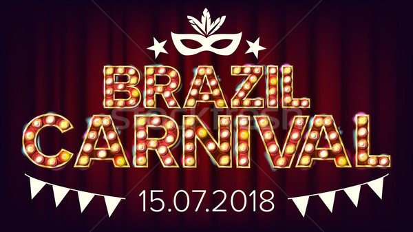 Brazil Carnival Banner Vector. Carnival Lamp Background. For Musical Party Banner Design. Retro Illu Stock photo © pikepicture