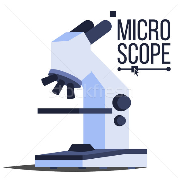 Professionele microscoop icon vector laboratorium wetenschap Stockfoto © pikepicture