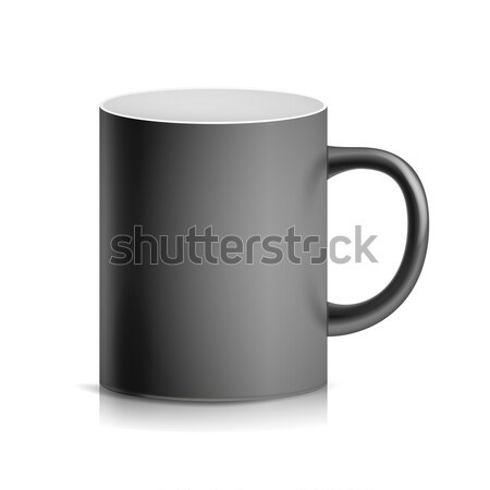 Black Cup, Mug Vector. 3D Realistic Ceramic Or Plastic Cup Isolated On White Background. Classic Bla Stock photo © pikepicture