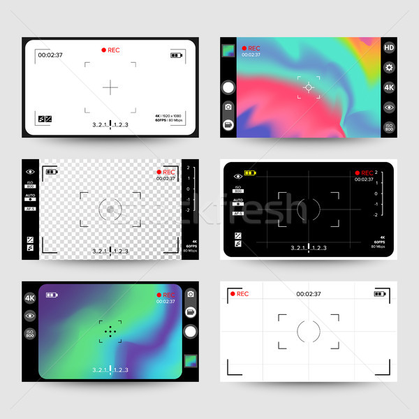 Camera Viewfinder Vector. Display Stock photo © pikepicture