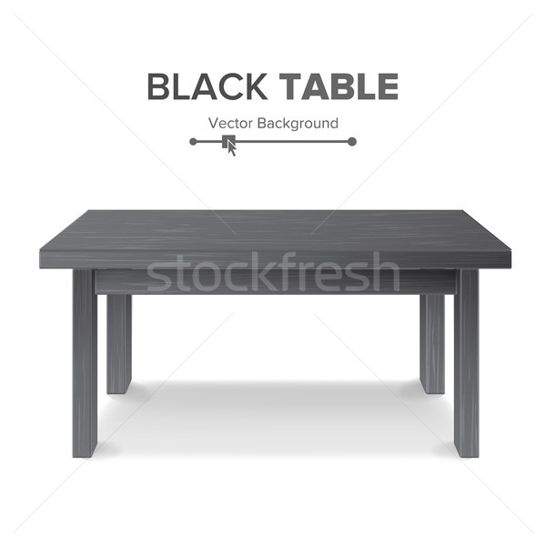 Dark Empty Square Table, Platform. Isolated Stock photo © pikepicture