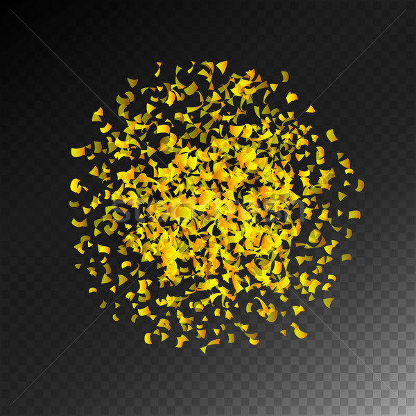 Confetti Falling Vector. Bright Explosion Isolated On Transparent Background For Birthday, Anniversa Stock photo © pikepicture