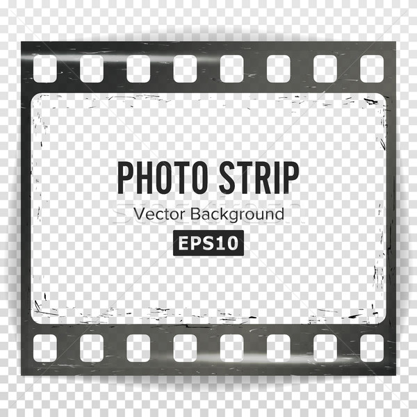 Photo Strip Vector. Realistic Empty Frame Strip Blank. Grunge Scratched Template Isolated On Transpa Stock photo © pikepicture