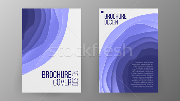 Business Brochure Design Vector. Cover Design Layout. Paper Cut Brochure. Ilustration Stock photo © pikepicture