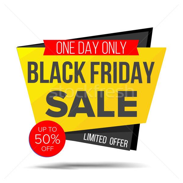 Black friday vente bannière vecteur Shopping réduction Photo stock © pikepicture