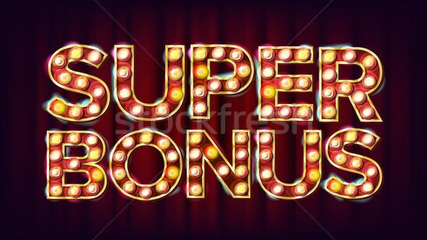 Stockfoto: Super · bonus · banner · vector · casino · vintage
