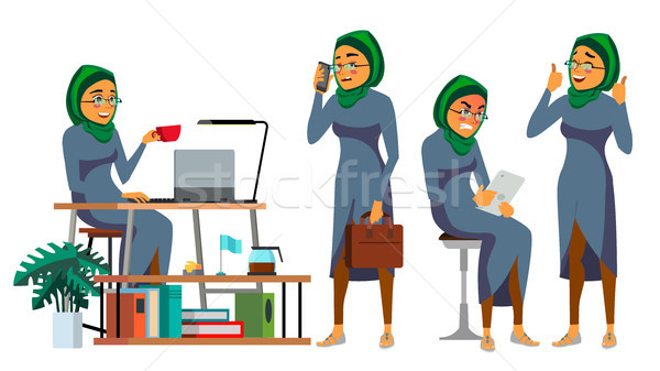 Boss CEO Character Vector. IT Startup Business Company. Body Template For Design. Various Poses, Sit Stock photo © pikepicture