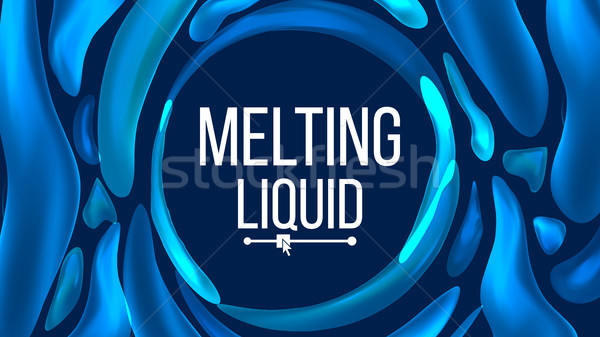 Liquid Background Vector. Trendy Gradients. Liquid 3D Gradient Drops. Pigment Illustration Stock photo © pikepicture
