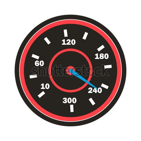 Speedometer Icon Vector. Sport Car Round Speedometer. Isolated Illustration Stock photo © pikepicture