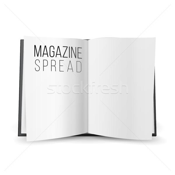 Açmak dergi vektör boş kâğıt Stok fotoğraf © pikepicture