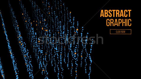 Deeltjes abstract grafisch ontwerp moderne zin wetenschap Stockfoto © pikepicture