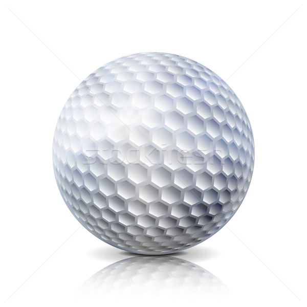 Realista golfball isolado branco tradicional clássico Foto stock © pikepicture