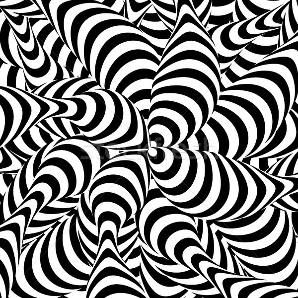 Abstract Striped Background. Spiral Vortex Phenomenon. Black And White Hypnosis, Rays. Optical Art I Stock photo © pikepicture