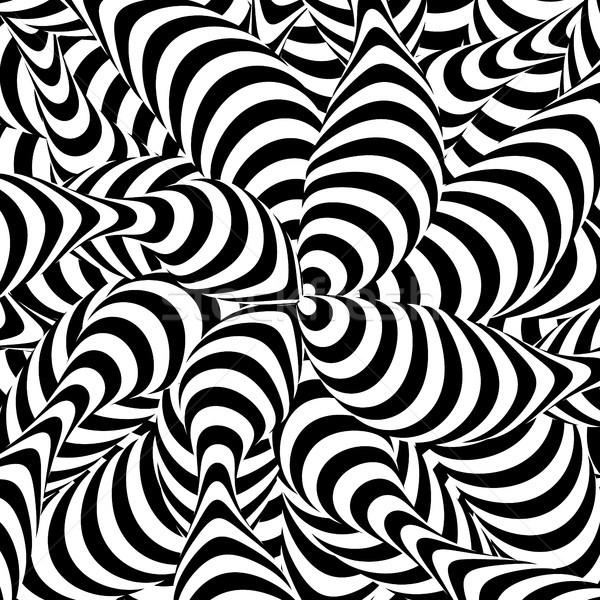Streszczenie pasiasty spirali wir zjawisko czarno białe Zdjęcia stock © pikepicture