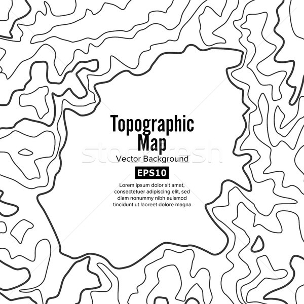 Contour Topographic Map Vector. Geography Wavy Backdrop. Cartography Graphic Concept. Stock photo © pikepicture