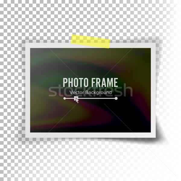 Azonnali fényképkeret vektor illusztráció retró stílus átlátszó Stock fotó © pikepicture