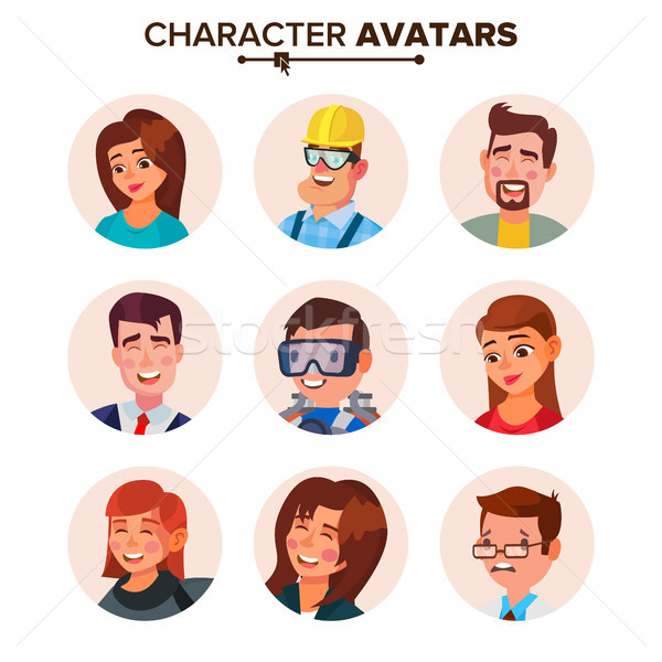 People Avatars Collection Vector. Default Characters Avatar. Cartoon Web Isolated Illustration Stock photo © pikepicture