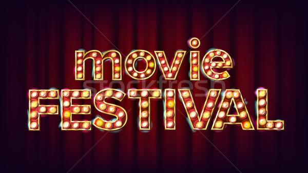 Film festival segno vettore vintage cinema Foto d'archivio © pikepicture