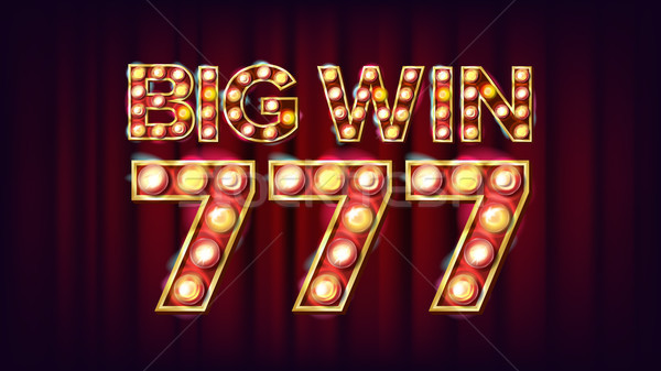 Big Win 777 Banner Vector. Casino 3D Glowing Element. For Fortune Advertising Design. Lucky Illustra Stock photo © pikepicture