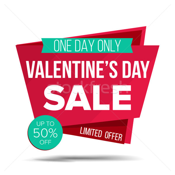 Valentine s Day Sale Banner Vector. Shopping Love Background. Discount Special February 14 Offer Sal Stock photo © pikepicture