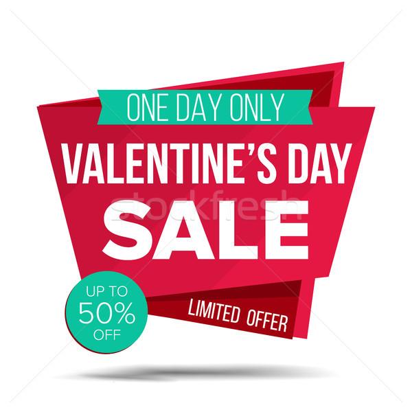 Valentine gün satış afiş vektör alışveriş Stok fotoğraf © pikepicture