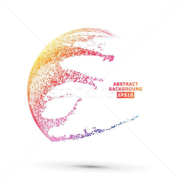 Colorful Sphere Composition Vector. Dotted Abstract Graphics. Isolated On White Background Stock photo © pikepicture