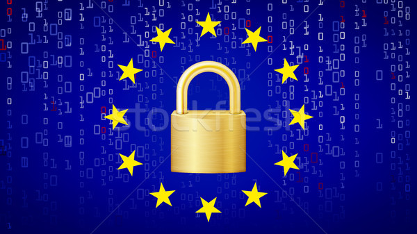 GDPR Background Vector. Padlock. Security Technology. General Data Protection Regulation. Illustrati Stock photo © pikepicture